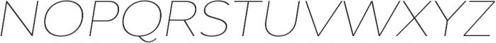 Adlinnaka Expanded Oblique Thin otf (100) Font UPPERCASE