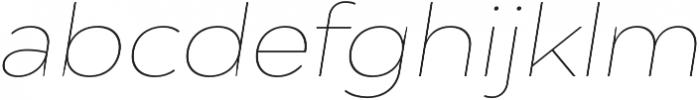 Adlinnaka Expanded Oblique Thin otf (100) Font LOWERCASE