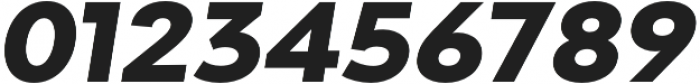 Adlinnaka Expanded Oblique Ultra Bold otf (700) Font OTHER CHARS