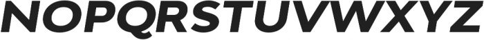 Adlinnaka Expanded Oblique Ultra Bold otf (700) Font UPPERCASE