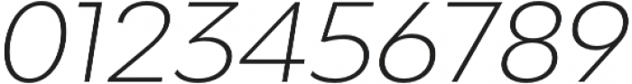 Adlinnaka Expanded Oblique Ultra Light otf (300) Font OTHER CHARS