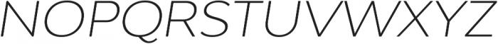 Adlinnaka Expanded Oblique Ultra Light otf (300) Font UPPERCASE