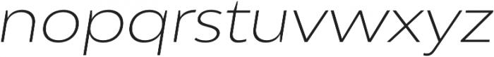 Adlinnaka Expanded Oblique Ultra Light otf (300) Font LOWERCASE