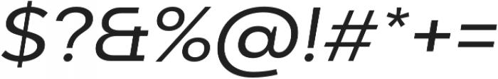 Adlinnaka Expanded Oblique otf (400) Font OTHER CHARS