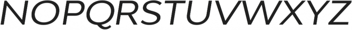 Adlinnaka Expanded Oblique otf (400) Font UPPERCASE