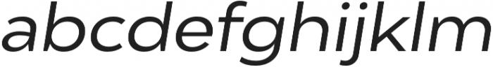 Adlinnaka Expanded Oblique otf (400) Font LOWERCASE