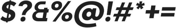 Adlinnaka Oblique Bold otf (700) Font OTHER CHARS