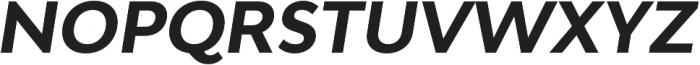 Adlinnaka Oblique Bold otf (700) Font UPPERCASE