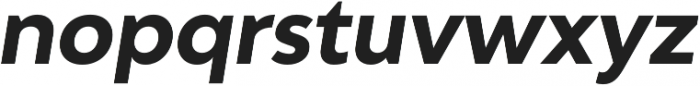 Adlinnaka Oblique Bold otf (700) Font LOWERCASE