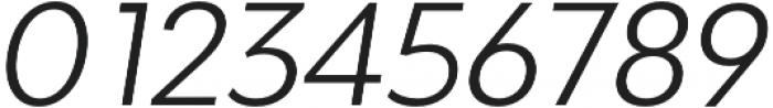 Adlinnaka Oblique Light otf (300) Font OTHER CHARS