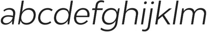 Adlinnaka Oblique Light otf (300) Font LOWERCASE
