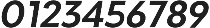 Adlinnaka Oblique Semi Bold otf (600) Font OTHER CHARS