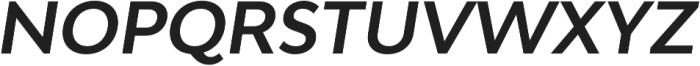 Adlinnaka Oblique Semi Bold otf (600) Font UPPERCASE