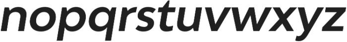 Adlinnaka Oblique Semi Bold otf (600) Font LOWERCASE