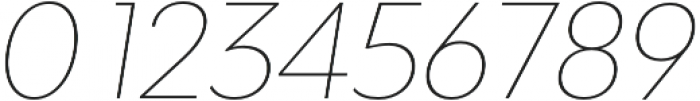 Adlinnaka Oblique Thin otf (100) Font OTHER CHARS