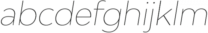 Adlinnaka Oblique Thin otf (100) Font LOWERCASE