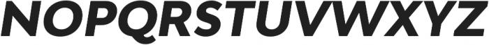 Adlinnaka Oblique Ultra Bold otf (700) Font UPPERCASE