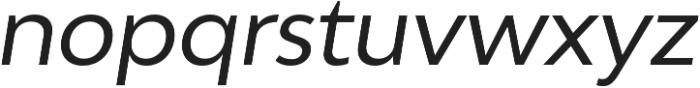 Adlinnaka Oblique otf (400) Font LOWERCASE