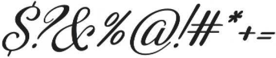 Adorabelle slant otf (400) Font OTHER CHARS