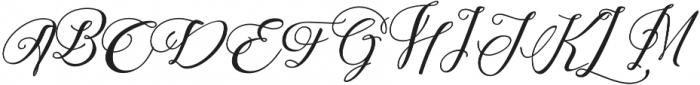 Adorabelle slant otf (400) Font UPPERCASE