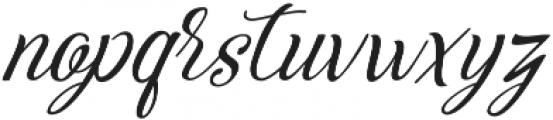 Adorabelle slant otf (400) Font LOWERCASE