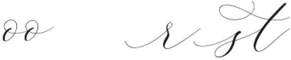 Adore Alternates otf (400) Font UPPERCASE