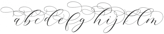 Adore Alternates otf (400) Font LOWERCASE