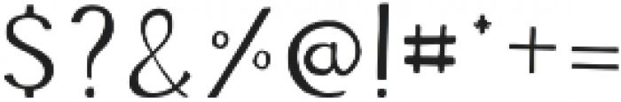 Adore Regular otf (400) Font OTHER CHARS
