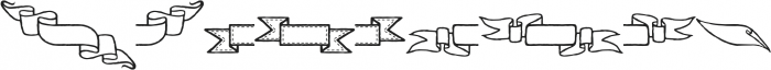 Adorn Banners otf (400) Font LOWERCASE