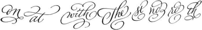 Adorn Catchwords otf (400) Font LOWERCASE