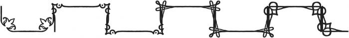 Adorn Frames otf (400) Font LOWERCASE
