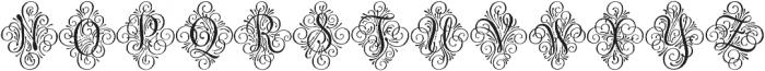 Adorn Solo otf (400) Font LOWERCASE