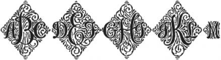 Adorn Trio otf (400) Font LOWERCASE