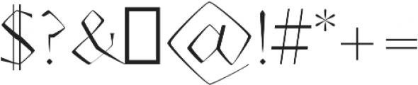 AdoulissMag Light ttf (300) Font OTHER CHARS