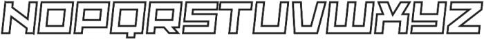 Adriana Italic-Outline otf (400) Font LOWERCASE