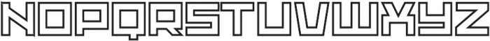 Adriana Outline otf (400) Font LOWERCASE