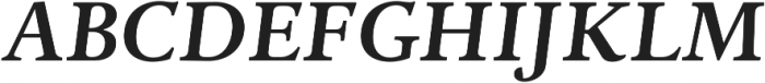 Adriane Text Bold Italic otf (700) Font UPPERCASE
