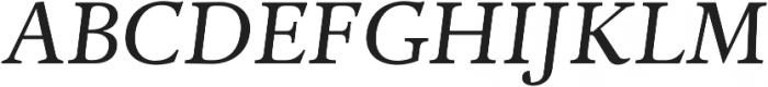 Adriane Text Italic otf (400) Font UPPERCASE