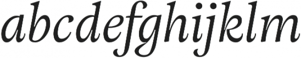 Adriane Text Italic otf (400) Font LOWERCASE