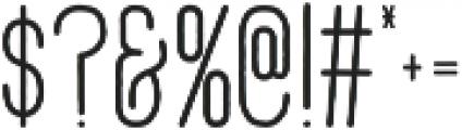 Adrift otf (500) Font OTHER CHARS