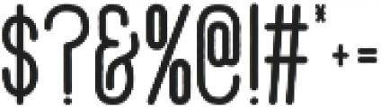 Adrift otf (700) Font OTHER CHARS