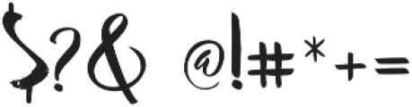Advance Regular otf (400) Font OTHER CHARS