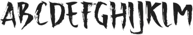 Advance Regular otf (400) Font LOWERCASE