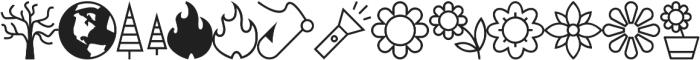 Adventure Icons IDT otf (400) Font UPPERCASE