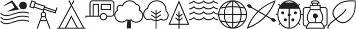 Adventure Icons IDT otf (400) Font LOWERCASE