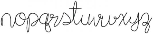Adventure In Woodfall Script Regular otf (400) Font LOWERCASE