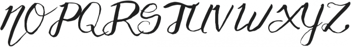 Adventurous Script otf (400) Font UPPERCASE