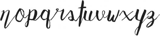 Adventurous Script otf (400) Font LOWERCASE