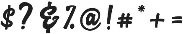 Advocate Script otf (400) Font OTHER CHARS