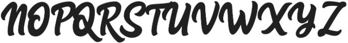 Advocate Script otf (400) Font UPPERCASE